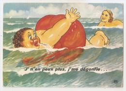 """Humour - Femmes Bains """" J'n'en Peux Plus , J Me Dégonfle 1973 Cachet Braratre 1973  Vendée -85 - Humour"""