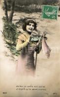Postcard / CP / 1 April / Aprilvis / 1 Aprilgrap / April Fools´ Day / Femme / Woman / Ed. Felis No 8027 - 1er Avril - Poisson D'avril