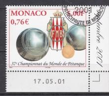 BOWLS World Championship MONACO 2001 With Gum