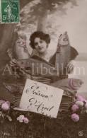 Postcard / CP / 1 April / Aprilvis / 1 Aprilgrap / April Fools´ Day / Femme / Woman / Ed. SIP No 2213 / 1908 - 1 April (aprilvis)