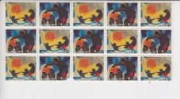 Canada Kerstvignetten 1977 15 Stuks(3 Zegels Beschadigd) - Unused Stamps