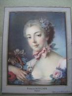François Boucher,pastel - Old Paper