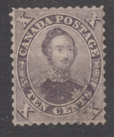 "CANADA  1859   10c  ""PRINCE ALBERT"" BROWN  MH? (GUM) USED? - 1851-1902 Victoria"