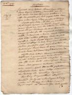 VP2762 -  PARIS - LAGNY - Acte Entre Mme MERION à FONTENAY &  PASQUIER De DAMPMART - Cachets Généralité