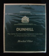 AC - DUNHILL MENTHOL HARD PACK CIGARETTES UNOPENED BOX FOR COLLECTION - Other