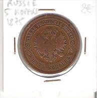 RUSSIE - 5 KOPEKS 1875 - Russia