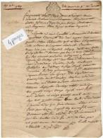 VP2763 -  PARIS - LAGNY - Acte  Marie L'Ecuyer Vve MERCIER De  POMPONNE - Cachets Généralité