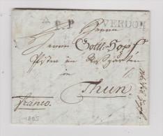 Heimat VD YVERDON P.P. 1805-08-28 Brief Nach Thun - Suisse