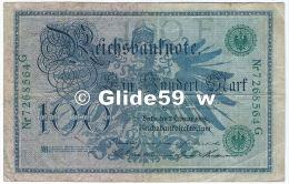 Reichbanknote - Ein Hundert Mark - N° 7268564 G - 7 Februar 1908 - [ 2] 1871-1918 : Empire Allemand