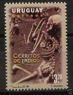 Anthropology Archeology Skeleton Native Burial Bone URUGUAY Sc#1611 MNH STAMP - Uruguay