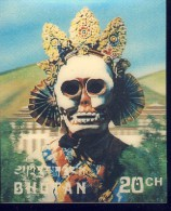 +B1092. Bhutan 1976. Mask. Michel 659. Unused - Bhoutan