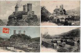 FOIX - 4 CPA -  Lycée Lakanal - Montgauzy - Chateau - Rocher   (84355) - Foix