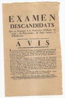 ROUEN AVIS EXAMEN DES CANDIDATS A LA PROFESSION D'OFFICIER DE SANTE  7 fevrier 1806