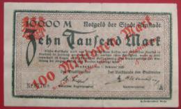Notgeld Der Stadt Arnstadt (Thüringen) - 100 Millionen Mark über 10000 Mark 1923 - [11] Emissioni Locali