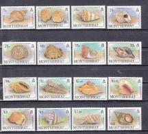 Shell Corall: Montserrat 1999 Mi Nr 710 - 725 ( Zegel $7.50 Is Gevouwen ) - Montserrat