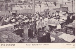 TARARE  - David Et Maigret    Ateliers De Broderie Mécanique.. Belle Animation. - Altri Comuni