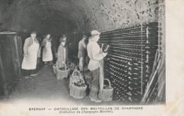 Collection Champagne Mercier -  Entreillage Des Bouteilles De Champagne  -scan Recto-verso - Epernay