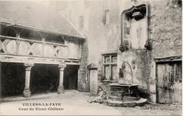 Villers La Faye : Cour Du Vieux Château (Editeur Porte - Cliché Ronco Frères) - Frankreich
