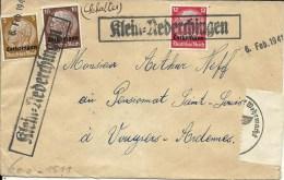 - ALSACE-LORRAINE  -   Lettre De 1941 Partie De KLEIN-NEDERCHINGEN Avec Censure - Alsace-Lorraine