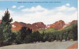 USA, Scenic Drive in Rocky Mountain National Park, Colorado, unused linen Postcard [16651]