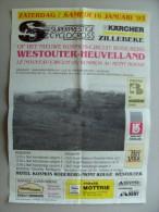 Affiche poster Superprestige CYCLOCROSS Zillebeke nieuwe kosmos-circuit Rodeberg WESTOUTER 16/1/1993