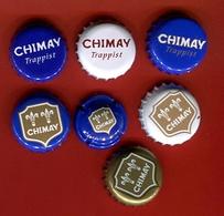 """1Bb - Lot 7 Capsules Bière Toutes Différentes """" CHIMAY Trappist """" Pour Collection - Beer"""