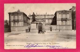 13 BOUCHES-du-RHONE MARSEILLE, L'Evêché Et La Statue De Mgr De Belsunce, Animée, 1904, (E. Lacour) - Monuments