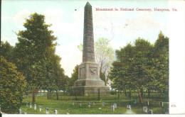 états Unis Hampton Monument In National Cemetery - Hampton