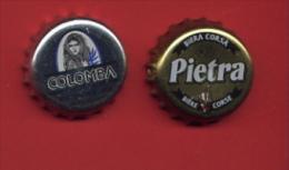 """30B - Lot 2 Capsules Bière  CORSE Toutes Différentes """"  Colombia + Pietra"""" Pour Collection - Beer"""