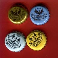 """31B - Lot 4 Capsules Bière  Toutes Différentes """"  GRIMBERGEN """" Pour Collection - Cerveza"""