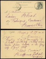 MCP1070 Entier De Ligny  à Bruxelles  1892 - Stamped Stationery