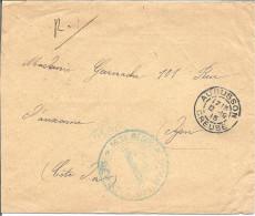 Depot 162é R I Aubusson Pour Dijon (Côte D'Or) - Postmark Collection (Covers)