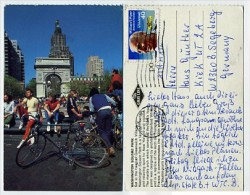 USA - New York - Washington Square Park - Bicycle - Used - Stamp - NY - New York