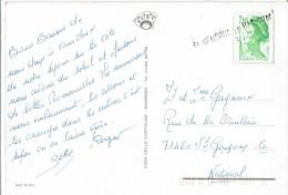 SAINT GENGOUX Le NATIONAL Cachet Linéaire N°2188 - CP Côte D'Azur - Marcophilie (Lettres)