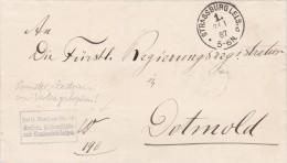 Universitäts Und Landesbibliothek Strassburg Nach Detmold 1887 - Briefe U. Dokumente