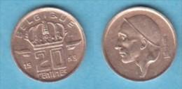 BELGIQUE BAUDOUIN  20 CENTIMES  BRONZE MONETAIRE TYPE MINEUR  ANNEE 1959 (française)  LOT N°54 - 01. 20 Centimes