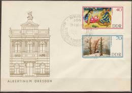 Deutschland, DDR, 1967, Paintings, Gauguin, Friedrich, Hodler, Scholtz, Hakenbeck, 3 FDC - Kunst