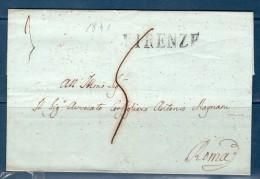 1841 - Prefilatelica Da FIRENZE Per ROMA -- - 1. ...-1850 Prefilatelia