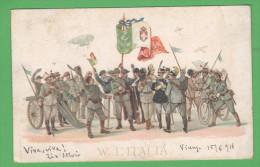 Pro Croce Rossa Per Zona Di Guerra 1918 Divise Militari - Croce Rossa
