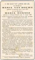 ROLLEGEM-KAPELLE - ROESELARE - Doodsprentje Van Maria VAN HOUWE En Maria DORNEZ ( Oorlogsslachtoffer ) + 1940 - Religion & Esotérisme