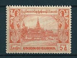 Burma  1952 Fm 3A 6P Orange Mi-Nr. 130  Falz */MH - Myanmar (Burma 1948-...)