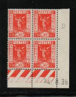 FRANCE    COIN DATE    NEUF Sans Charnière   N°  325    N**  Du  24/08/1936 - 1930-1939