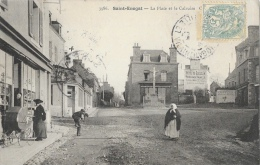 Saint-Enogat (Ile-et-Vilaine) - La Place Et Le Calvaire - Femme Et Landau - Carte G.F. N°3986 - Autres Communes