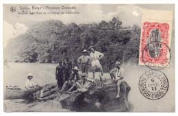 CARTE POSTALE DE MATADI POUR BOZOUM OUBANGUI CHARI TCHAD TRANSIT BRAZZAVILLE CONGO BANGUI