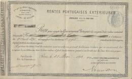 RENTE PORTUGAISE . 1893 - Banque & Assurance