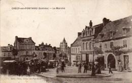 CRECY  - En - PONTHIEU  :le Marché - Crecy En Ponthieu