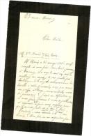 HARCOURT 2 LETTRES DE M GUESDON A SON NOTAIRE CONCERNANT AFF DAVID - LEON MORIN - Historical Documents
