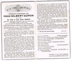 WOUMEN - IEPER - BOCOLDER - MAUTHAUZEN - EBENSEE  , Doodsprentje Van Gilbert DUPON (OORLOGSLACHTOFFER)+ 1945 - Religion & Esotericism