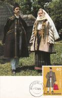FOLKLORE COSTUME FROM SUCEAVA COUNTY, CM, MAXICARD, CARTES MAXIMUM, 1976, ROMANIA - Costumes