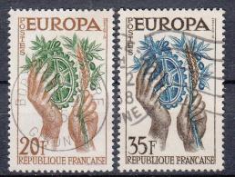EUROPA - CEPT - Michel - 1957 - FRANKRIJK - Nr 1157/58 - Gest/Obl/Us - Europa-CEPT